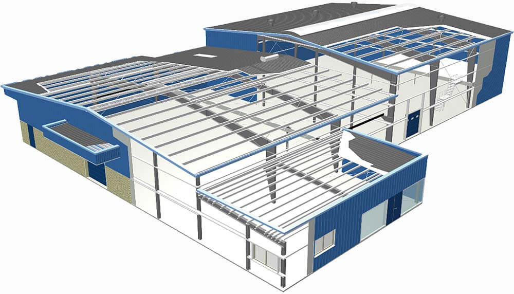 modulnye zdanija 1 Промышленные металлоконструкции
