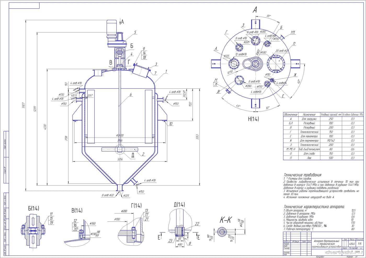 rezervuary i emkosti s meshalkami reaktory 1 Мешалка на заказ