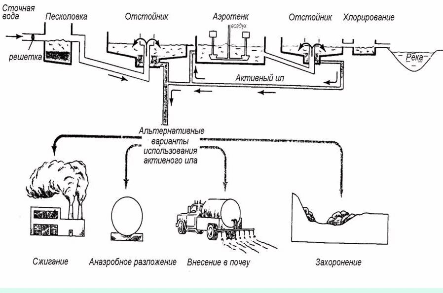 utilizacija osadkov hoz bytovyh stochnyh vod Утилизация осадков хозяйственно бытовых сточныхвод