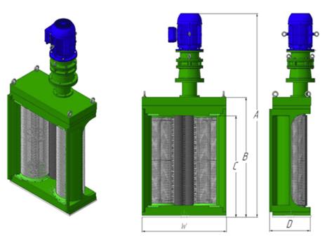 Дробилки канализационные с двумя фильтрующими барабанами