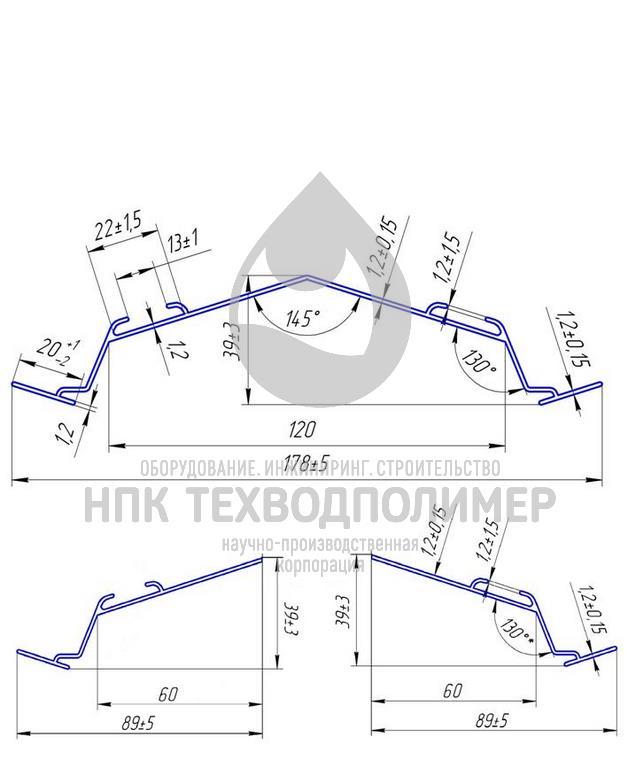 Тонкослойные модули 41.51 основной и торцевые профили