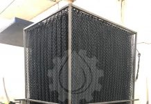 Блок биологической загрузки ББЗ 65 в металлическом каркасе.