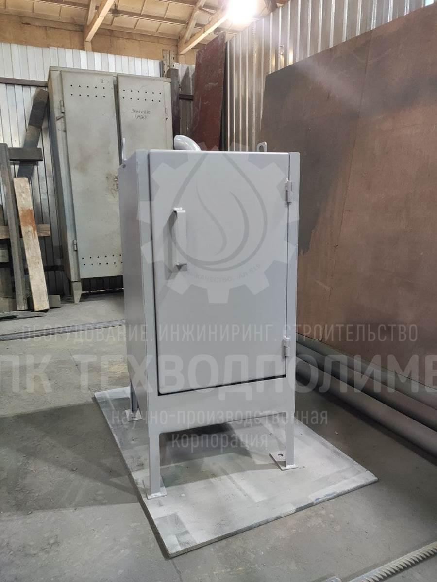 Мешочный обезвоживатель TURAN-M-1. Нестандартная конструкция. По требованиям заказчика нужно было уложиться в минимальные габариты. Материал изготовления сталь конструкционная. Производительность до 1,5 м3/сут.