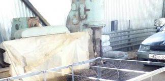 Каркас из нержавеющей стали с хлыстами ББЗ не спаянными в отдельный блок.